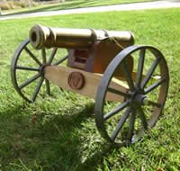 A cannon cast by the UNI Metal Casting Center