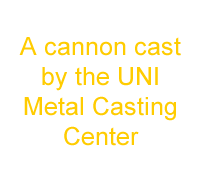 A cannon cast by the UNI Metal Casting Center txt