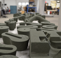 Molds created by the Metal Casting Center's sand printer