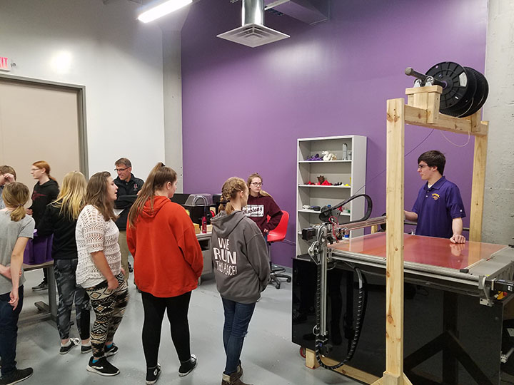 9th Grade Students Tour Additive Manufacturing Center - November 2017