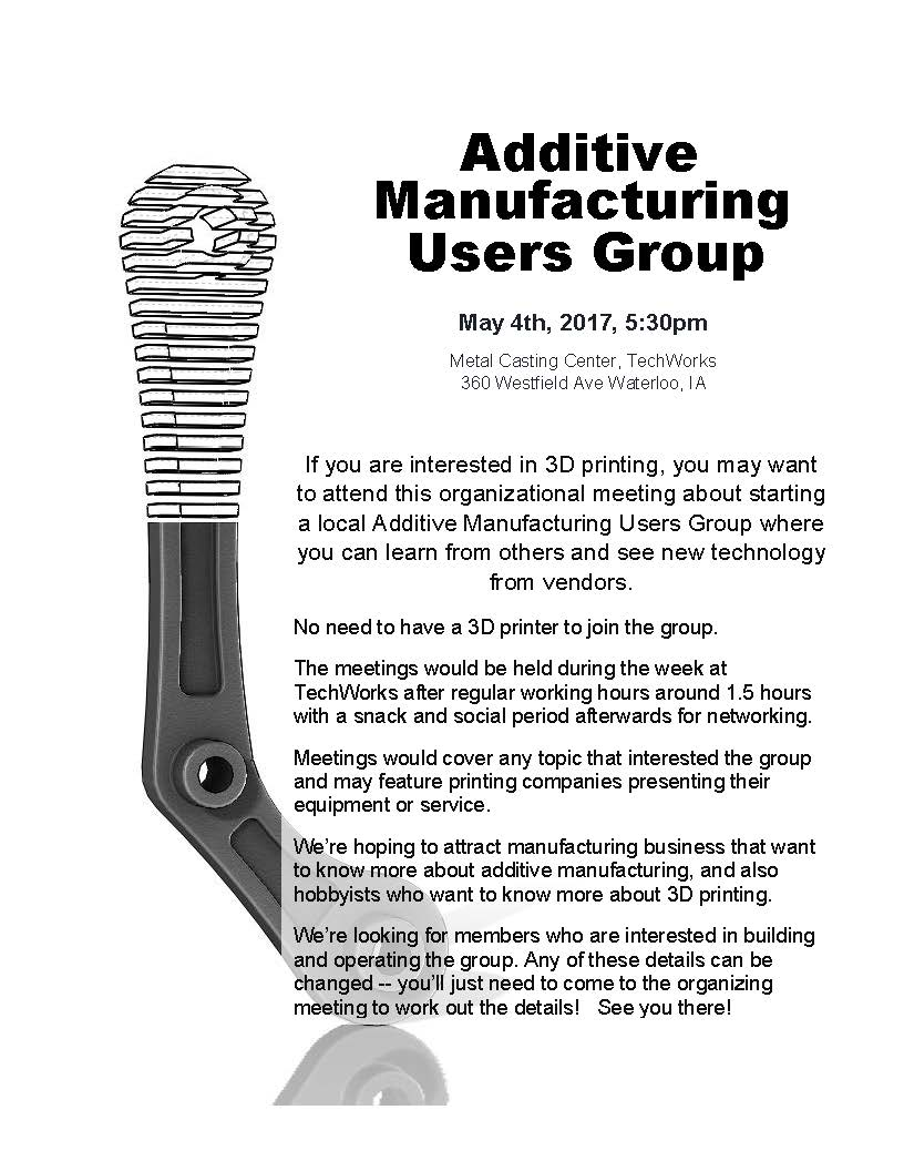 Additive Manufacturing Users Group Flyer